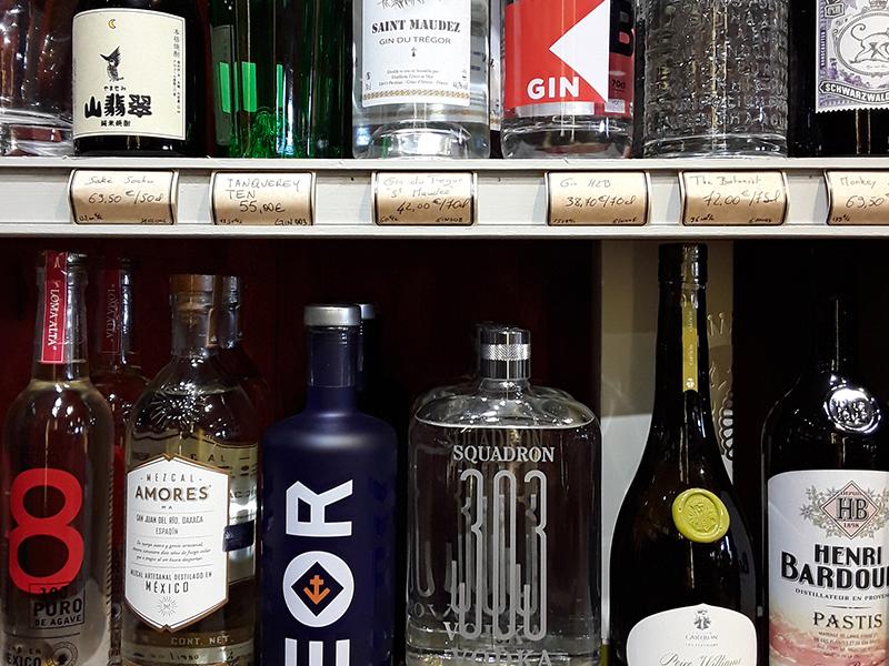 Gins, Vodkas, Mezcals, Téquilas et autres